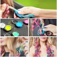 Hot Hues Non-toxic Temporary Hair Chalk Dye Soft Pastels Salon Pressed Powder