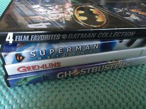 4 Film Favorites Batman/Superman Returns/Ghostbusters/Gremlins Lot Of 4 FreeShip