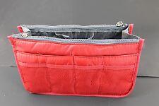 Red Travel Insert Handbag Make Up Cosmetic Purse Large Liner Organizer Bag