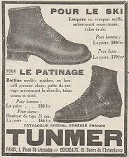 Z8656 TUNMER pour le Ski et le Patinage - Pubblicità d'epoca - 1926 Old advert