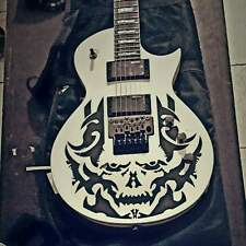 SKULL skin / decal / sticker for electric guitar (for Les P Models) chose color