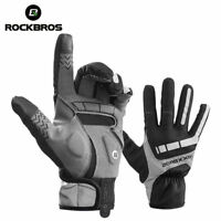 Rockbros Bike Cycling Winter Gloves Windproof Full Finger Touch Screen Gloves