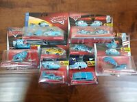 *New* Disney Cars Diecast Dinoco Set PITTY Storm Mcqueen MRS the King lot of 10