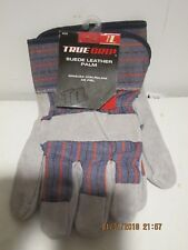 TRUE GRIP 9223 LARGE SUEDE LEATHER PALM UTILITY  WORK GLOVES-F/SHIP NEW W/TAGS!