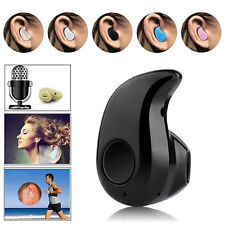 Black Universal Mini Wireless Bluetooth Stereo In-Ear Headset Earphone Earpiece