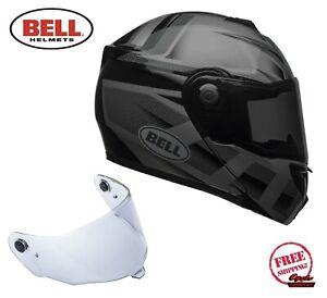BELL SRT MODULAR FLIP-UP MOTORCYCLE HELMET BLACKOUT DOT APPROVED W/ DROP DOWN