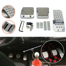 Car Foot Pedal Pad Clutch Brake Kit Non-Slip Manual Cover Aluminum Universal Set