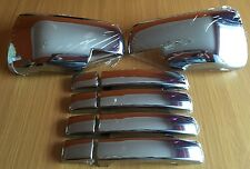 CHROME FULL WING MIRROR HANDLE COVERS RANGE ROVER SPORT DISCOVERY 3 FREELANDER 2