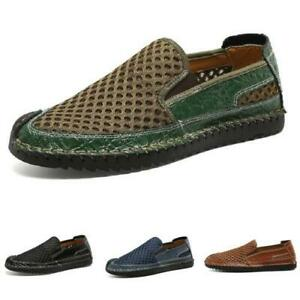 Large Size Mens Mesh Breathable Slip on Loafers Casual Driving Moccasins Shoes D