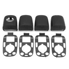 8Pcs Door Handle End Cap Cover Trim Seals Kit For Peugeot 307 Citroen C2 C3