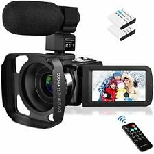 Video Camera Camcorder with Microphone, Rosdeca Vlogging Camera FHD 1080P