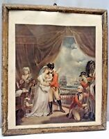 LITHOGRAPH PRINT FRAMED VINTAGE EUROPEAN PRINT COLLECTIBLES WALL HANGING RARE