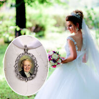 Photo Memory Bouquet Charm Bridal Wedding Remembrance Bride Gift Personalised