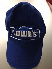 Lowes Cap Home Improvement Blue Strapback Baseball Hat House Work Tools