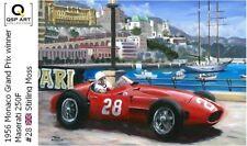 Coffee Mug 1956 Maserati 250F #28 Stirling Moss winner Monaco Toon Nagtegaal