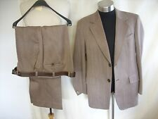 "Mens Suit Lewis's Man brown vintage, jacket 44 R, inside leg 29"", waist 36"" 8305"