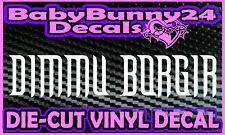 DIMMU BORGIR Band Logo Laptop Truck Car Decal Vinyl Sticker Metal