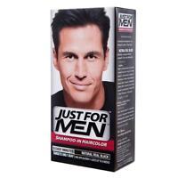 5 Set Just For MEN Shampoo-In Hair Color  Natural Real Black - DHL EXPRESS