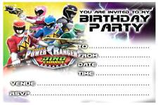 1 x POWER RANGERS CHILDRENS BLANK FILL IN DIY BIRTHDAY INVITATIONS + MAGNETS