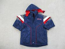 New York Rangers Jacket Youth Large Blue Red Nhl Hockey Reebok Coat Kids Boys *