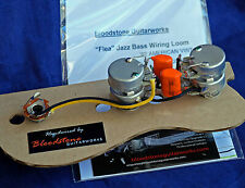 "Ready Built Fender 62 USA ""Flea"" Jazz Bass Wiring Upgrade/Loom & Fitted Knobs A"