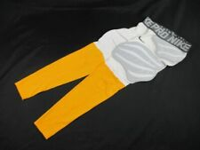 Nike Padded Compression Pants Men's White/Yellow New Large