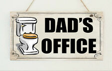 Dad's Office Shabby Toilet Hanging Plaque Sign Chic Gift Present Daddy Grandad