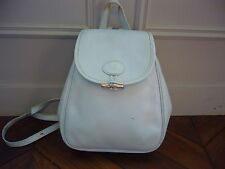 Longchamp pale blue leather backpack, 'Roseau' collection
