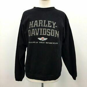 100th Anniversary Harley Davidson Black Womens Sweatshirt Fleece Lined Size M