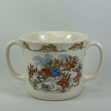 Bunnykins Royal Doulton Snow Day Double Handle Tea Cup English Fine Bone China