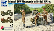 Bronco 1/35 35035 Triumph 3HW Motorcycle with MP crew