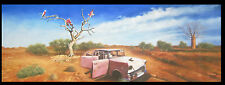 Landscape Australia Outback Bush Oil Painting Anything can be done By Jane