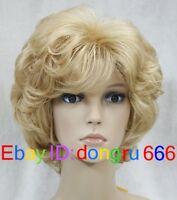Hot! Fashion wig New sexy Women's Short Blonde Hair wigs + Free Wig cap