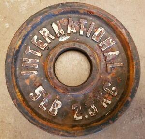 International Single 5lb Olympic plate Weight vtg change