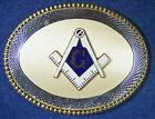 """New Rare Vintage Freemason Mason Masonic Cut Out """"G"""" Belt Buckle - Diamond Cut"""