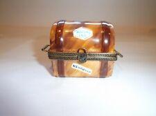 Peint Main Limoges Trinket-Old Fashioned Travel Trunk