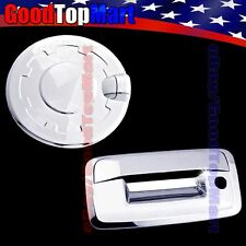 For Chevy SILVERADO 1500 2014 2015 Chrome Covers Set Gas Door + Tailgate w/ KH