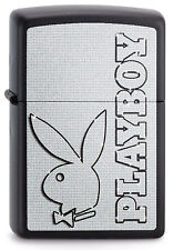 Zippo Feuerzeug PLAYBOY BUNNY Black matte Hase Schriftzug NEU OVP Sammlerstück!!
