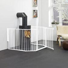BabyDan Flex Foyer Barrière de Sécurité - Écran de feu Blanc