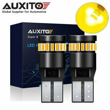 2x AUXITO CANBUS T10 2825 168 194 W5W LED License Plate Light Bulb Amber Yellow