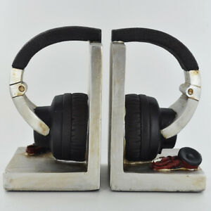 Stereo Headphones Themed Bookends.Sculpture / Figurine.New