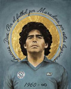 Santino 6x8cm Diego Armando Maradona SANTA MARADONA NAPOLI EL PIBE DE ORO D10S