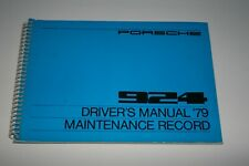 1979 Porsche 924 - Original Drivers Manual & Maintentance Record (unused)