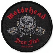 Official Merch Woven Sew-on PATCH Heavy Metal Rock MOTORHEAD Iron Fist Skull