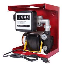 16 Gallon 110V Electric Oil Fuel Diesel Gas Transfer Pump W/Meter Hose Manual