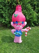 Trolls Airblown Inflatable Poppy with 3.5 ft Tall Pre-Lit Yard Decoration