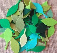 Die Cut Felt Spring/Summer Leaves Grab Bag- 100% Wool Felt