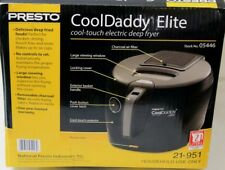 Presto 05446 CoolDaddy Cool-Touch Deep Fryer - NEW, Open Box