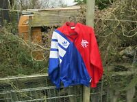 Vintage adidas Rangers 1990s 90s Home (S) Small Football Track Jacket