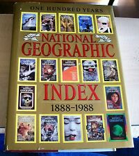 AF0226 Book 100 YEARS NATIONAL GEOGRAPHIC INDEX 1888-1988 hb 1989 Reference